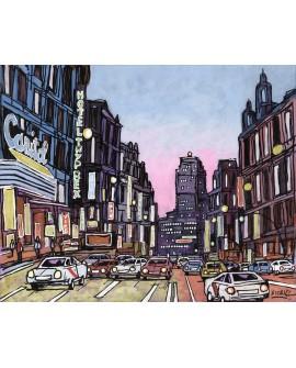 Alcala : Capitol en Gran Via en Madrid. Cuadro Comic. Pintura Moderna Home