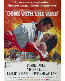 Lo que el viento se llevo. cartel de cine gigante vertical clasico Vintage Home