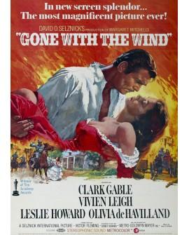 Lo que el viento se llevo. cartel de cine gigante vertical clasico Vintage Home