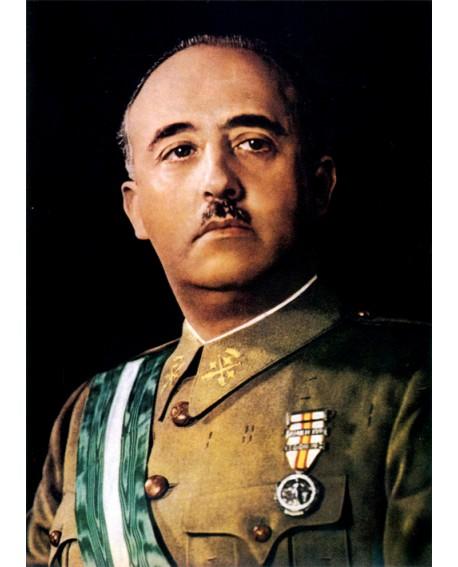 Francisco Franco Retrato Clasico de El Caudillo de España Vintage Home