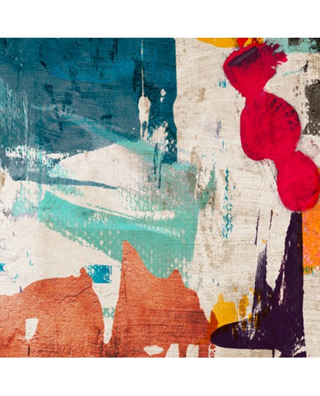 ANNE MUNSON COLORS ROYALE Mural Abstracto cuadrado en Giclee Home