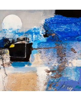 ARTHUR PIMA MOONLIGHT Luz de luna Mural abstracto cuadrado