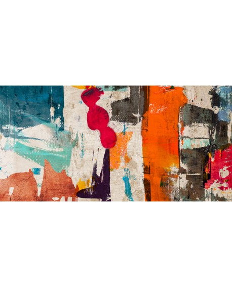ANNE MUNSON COLORES ROYALE 2 Cuadro Mural Abstracto Gigante en Giclee Cuadros Horizontales