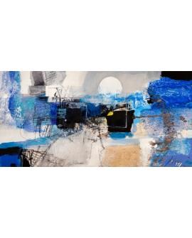 ARTHUR PIMA MOONLIGHT La luz de la luna Mural Abstracto Grande en Giclee Cuadros Horizontales