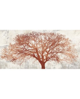ALESSIO APRILE TREE OF BRONZE ARBOL OTOÑO ABSTRACTO PINTURA GICLEE