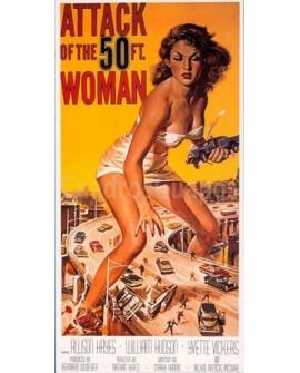 CartelClasico Vintage cine Ficcion USA ataque de la mujer de 50 pies Home