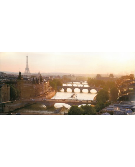 Foto Paris rio Sena fotografia panoramica mural de ciudad tamaño gigante Cuadros Horizontales