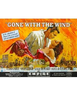 Lo que el viento se llevo. cartel gigante horizontal de cine clasico Home