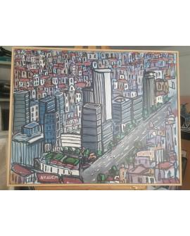 J. Alcala 80x65 Zona azca castellana Madrid pintura Naif original Home
