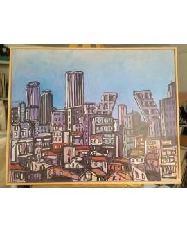 J. Alcala 80x65 Tetuan y las torres kio Madrid pintura Naif original Home