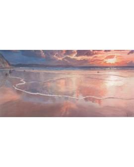 Adriano Galasso El Alba sobre el mar paisaje mural marina Reproduccion Cuadros Horizontales