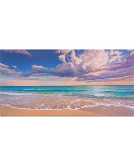 Adriano Galasso La orilla del oceano paisaje mural marina Reproduccion Cuadros Horizontales