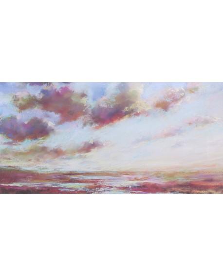 nel whatmore Paisaje con nubes serenas mural marina Reproduccion Cuadros Horizontales