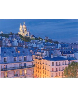 Foto panoramica Paris Romantico Montmartre Buhardilla atardecer Home