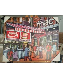 J.Alcala 80x65 coca cola, mahou y churros pintura Naif original Home