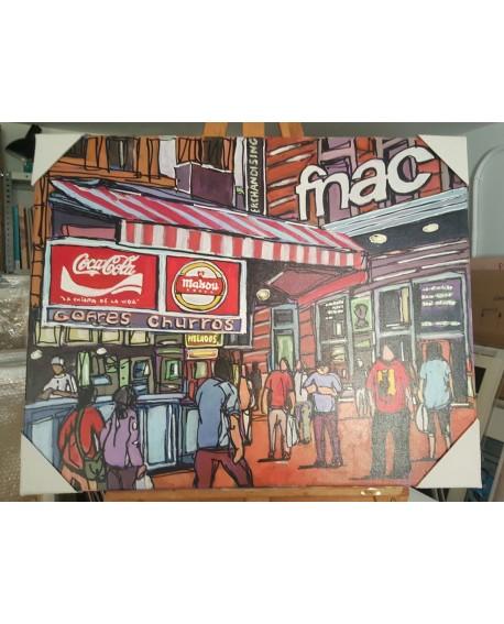 J. Alcala 80x65 coca cola, mahou y churros pintura Naif original Home