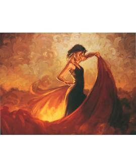 Bailaora flamenca pintura giclee baile danza Andalucia arte español Home
