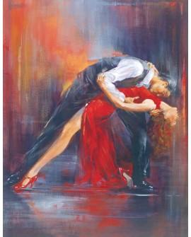 tango argentino pintura giclee baile danza pareja 2 reproduccion