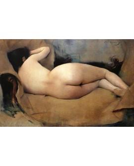 Ramon Casas Figura mujer desnudo clasico 1893 reproduccion Home