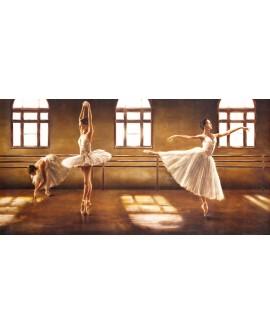 cuadro ballet danza bailarinas mural grande pintura giclee reproduccion Cuadros Horizontales
