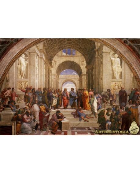 Rafael Escuela de Atenas Cuadro Mural Renacimiento Reproduccion Home