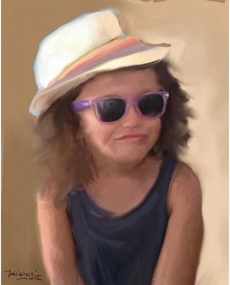 retrato infantil bajo encargo a partir de foto Pintado por Jose Alcala Home