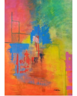 LUCIA CIARCIA Cuadro mural Abstracto UNA MAÑANA AÑO 2014 VENEZOLANA