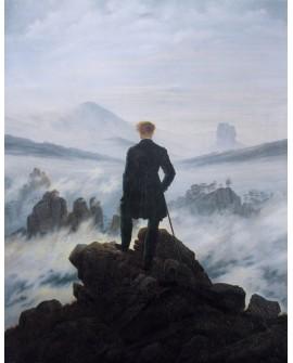 Friedrich: El caminante sobre el mar de nubes. Cuadro en Reproducción Home