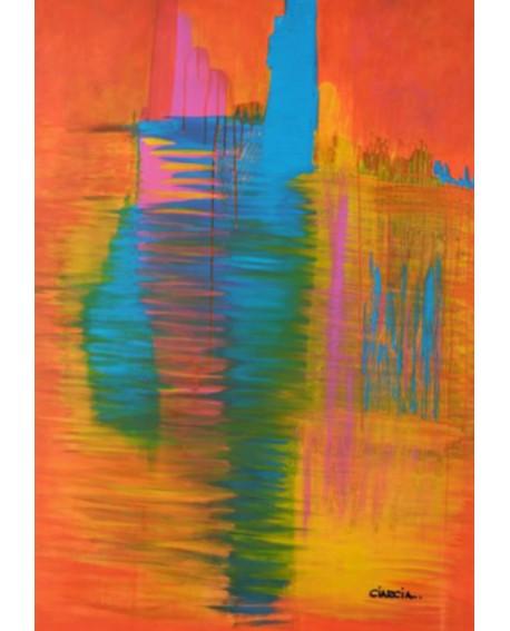 """LUCIA CIARCIA Cuadro Original \\""""DESPUES DEL SUEÑO\\"""" Oleo Acrilico en lienzo 140x100 cm Home"""