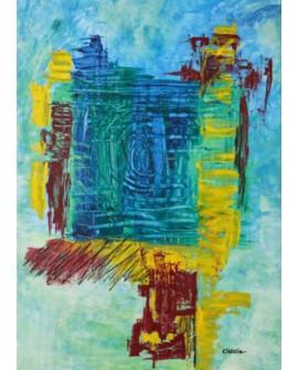"LUCIA CIARCIA Cuadro Original \\""MUY DENTRO DE TI\\"" Oleo Acrilico en lienzo 140x100 cm Home"