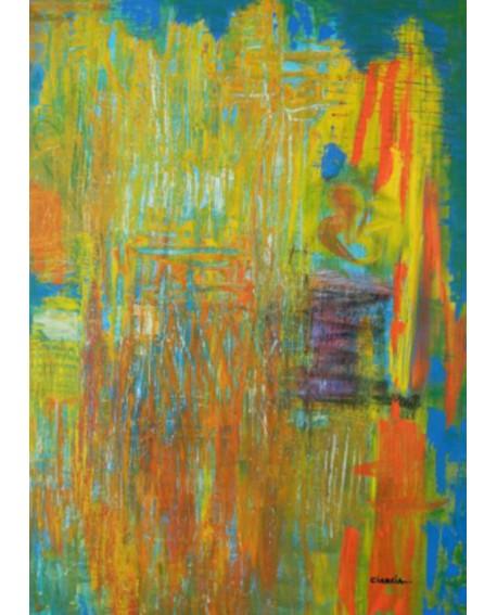 "LUCIA CIARCIA Cuadro Original \\""TIEMPO\\"" Oleo Acrilico en lienzo 140x100 cm Home"