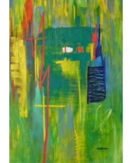"""LUCIA CIARCIA Cuadro Original \\""""DELTA\\"""" Oleo Acrilico en lienzo 140x100 cm Home"""