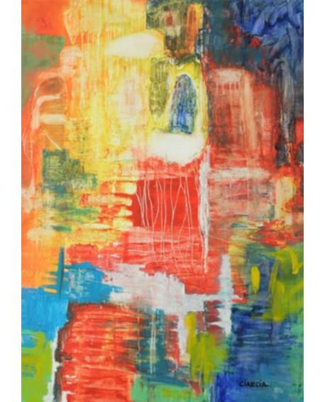 "LUCIA CIARCIA Cuadro Original \\""MAS ALLA\\"" Oleo Acrilico en lienzo 140x100 cm Home"