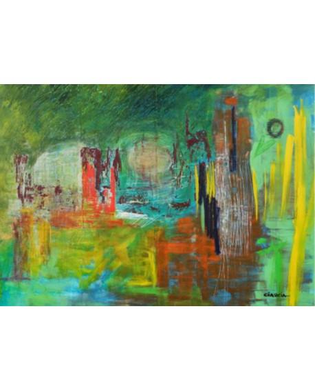 "LUCIA CIARCIA Cuadro Original \\""FUTURO\\"" Oleo Acrilico en lienzo 140x100 cm Home"