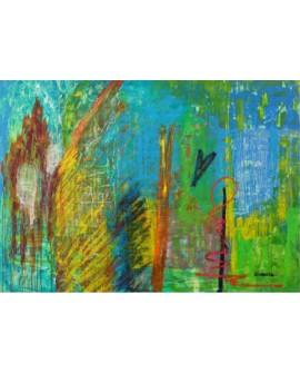 """LUCIA CIARCIA Cuadro Original """"INTENSIDAD"""" Oleo Acrilico en lienzo 140x100 cm"""