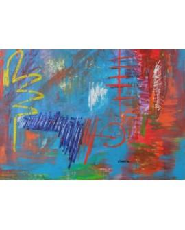 """LUCIA CIARCIA Cuadro Original """"PENSAMIENTOS"""" Oleo Acrilico en lienzo 140x100 cm"""