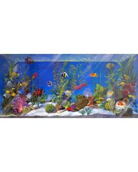 acuario peces tropicales 3D pecera decorativa fantasia pintada
