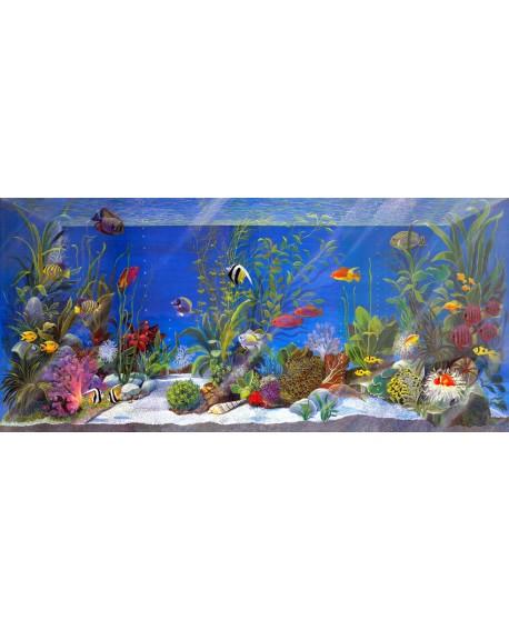 acuario peces tropicales 3D pecera decorativa fantasia pintada Cuadros Horizontales