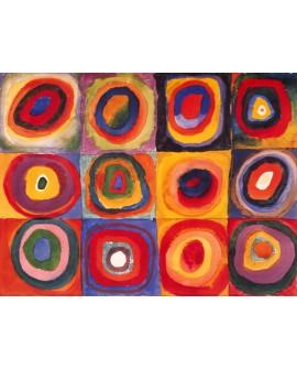 Vassily Kandinsky Circulos. Cuadro Abstracto Reproducción Home