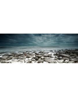 paisaje panoramico fondos marinos nordicos piedras y mar Cuadros Horizontales