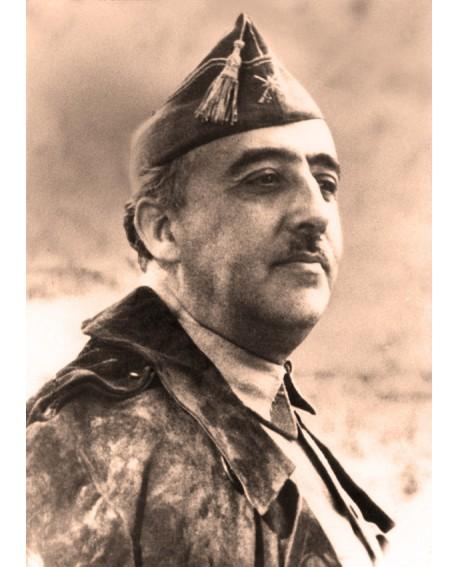 Francisco Franco Retrato Sepia Legionario de El Caudillo de España Home