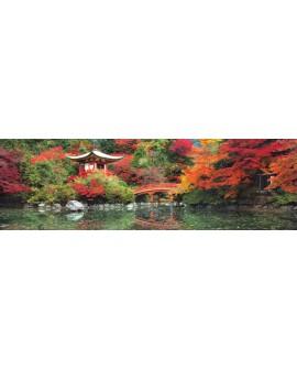 bosque oriental japones XXL con arboles y lago mural gigante panoramico Cuadros Horizontales