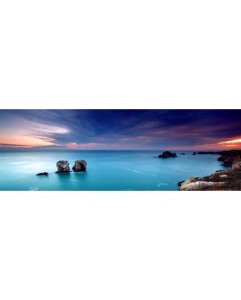 panoramico paisaje del mar azul amanecer horizonte en mural gigante Cuadros Horizontales