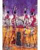 Danza africana Cuadro mural Etnico Tribal Africano Colorista Home