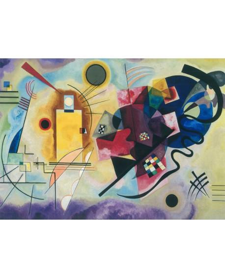 Vassily Kandinsky Azul Rojo y Amarillo - Cuadro Abstracto. Home