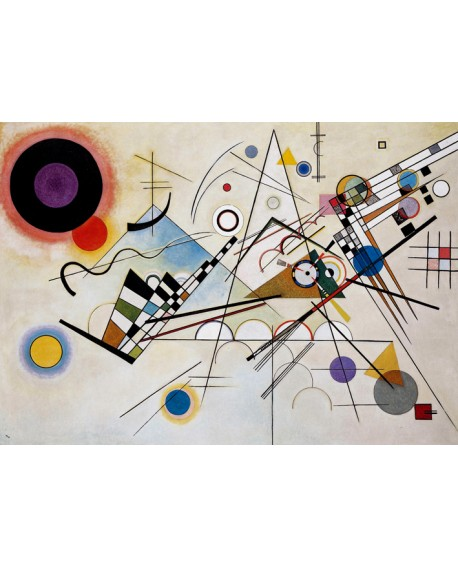 Vassily Kandinsky composicion 8 - Cuadro de arte Abstracto. Home