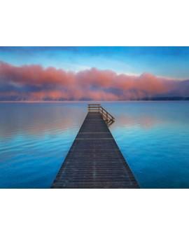 frank krahmer paisaje puente en playa del lago baviera cuadro Home