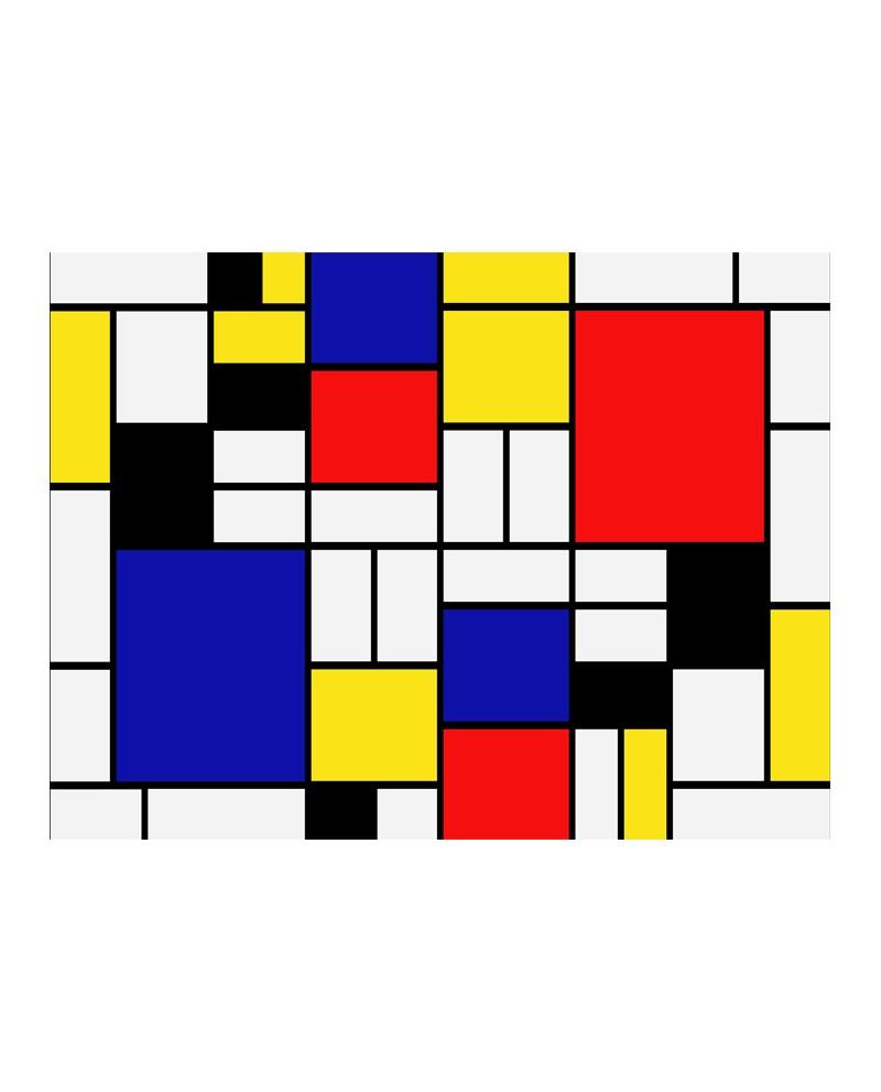 Mondrian cuadrados de colores abstracto moderno mural mondrian cu - Cuadros de colores ...