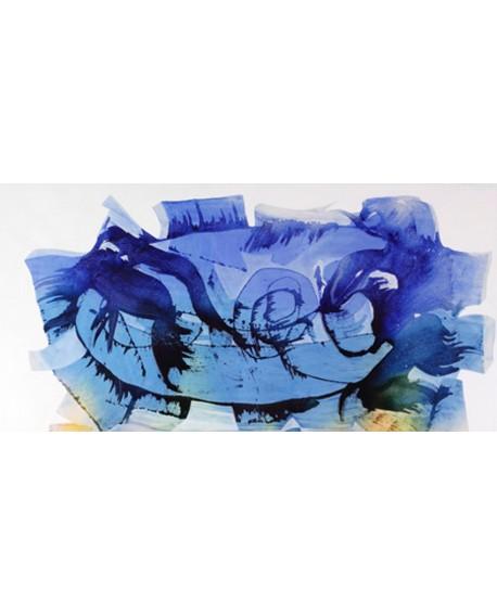 nino mustica cuadro mural azul grande abstracto 2010 Cuadros Horizontales