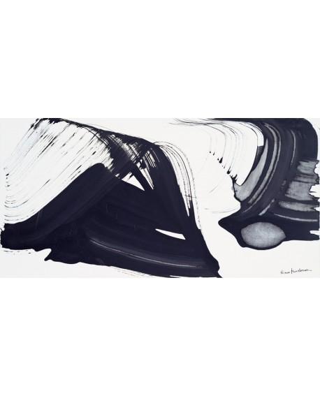nino mustica cuadro grande abstracto blanco y negro Cuadros Horizontales